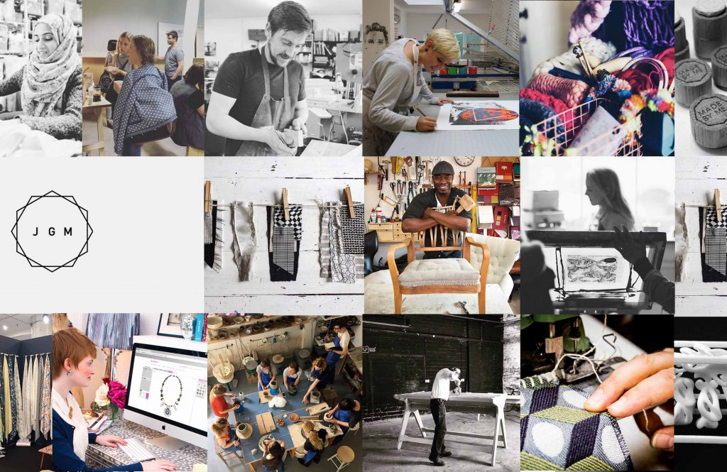 A collage of designers, makers and craftspeople who are part of Just Got Made